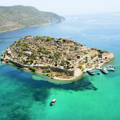 Spinalonga Island Aerial View