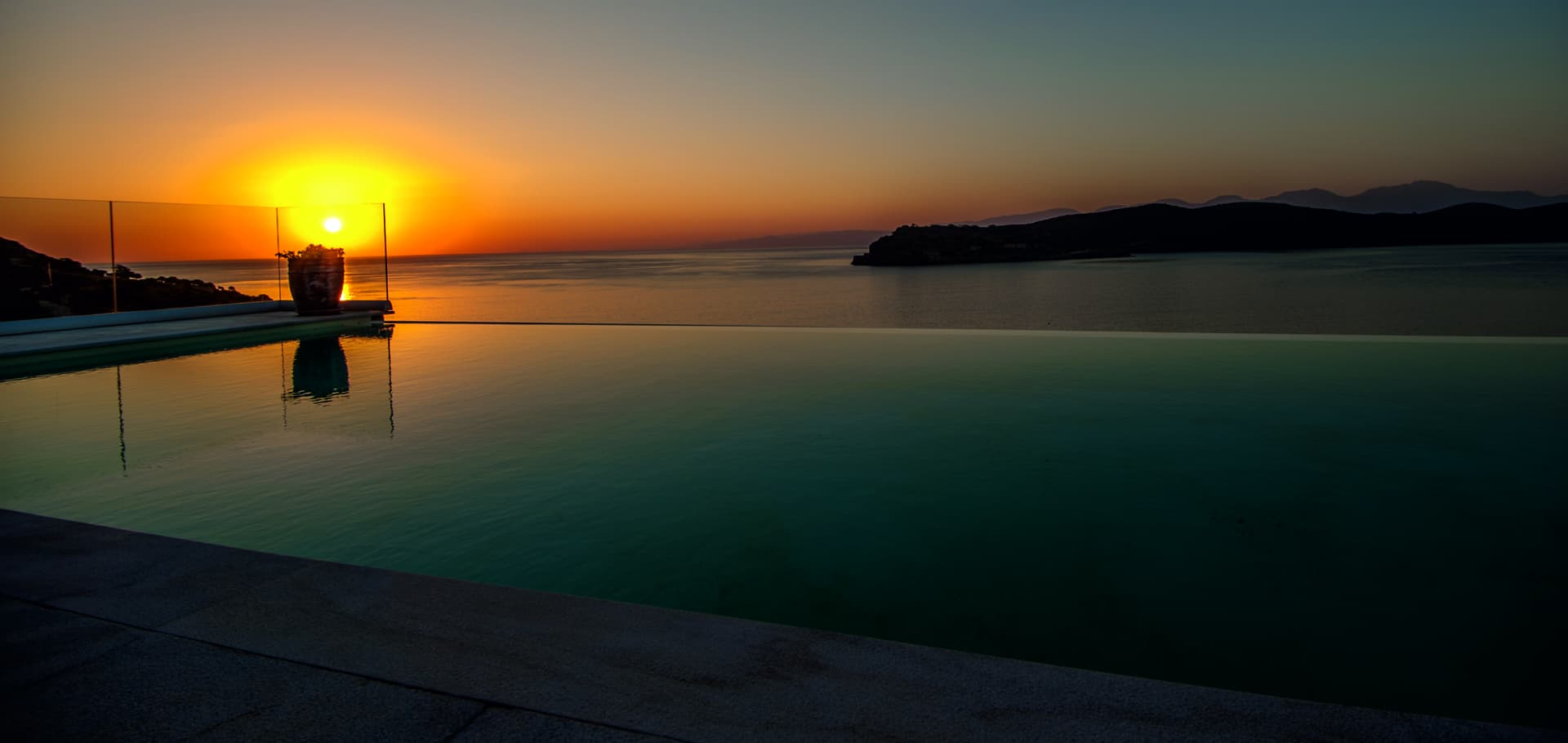 Sunset View of Spinalonga Villas